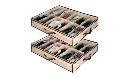 Organizador de zapatos bajo cama con capacidad para 12 pares